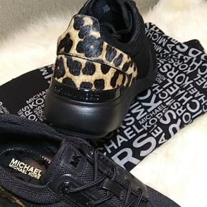 MICHAEL Michael Kors leopard Amanda trainer